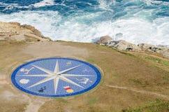 Лимб картушки компаса на башне Геркулеса в Ла Coruna Стоковые Фото
