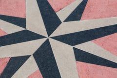 Лимб картушки компаса на поле Стоковое Изображение