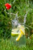 Лимонад в кувшине Стоковое Изображение RF
