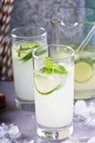 Лимонад огурца в высокорослых стеклах Стоковое фото RF