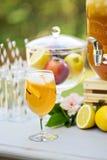 Лимонад персика на станции питья Стоковое Изображение RF