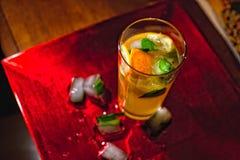 Лимонад с мятой и льдом Стоковая Фотография RF