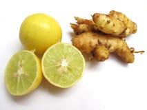 лимоны имбиря Стоковая Фотография