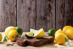 Лимоны и известки Стоковая Фотография