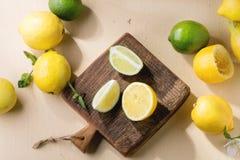 Лимоны и известки Стоковое Фото