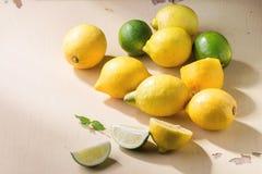 Лимоны и известки Стоковые Фотографии RF