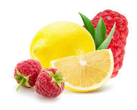 Лимоны и поленики изолированные на белой предпосылке Стоковая Фотография