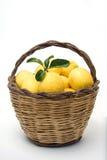 лимоны корзины Стоковые Изображения RF