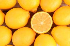 Лимоны крупного плана Стоковое Изображение RF