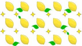 Лимоны на белой предпосылке иллюстрация штока
