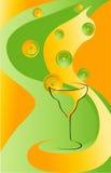 лимоны питья карточки Стоковое фото RF
