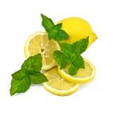 Лимоны с мятой Стоковое Изображение RF