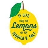 Лимоны цитаты мотивировки Стоковая Фотография