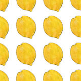 Лимоны fruits pattern seamless рука нарисованная предпосылкой также вектор иллюстрации притяжки corel Стоковое фото RF