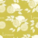 Лимон безшовный Стоковое Фото
