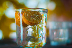 Лимон в стекле Стоковая Фотография RF