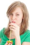 лимон девушки Стоковая Фотография RF