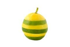 Лимон-известка на белой предпосылке Стоковое фото RF