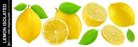 Лимон изолированный на белой предпосылке с путем клиппирования Стоковое Фото