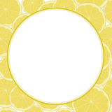 Лимон и известка сделали по образцу пустую рамку для текста Иллюстрация вектора