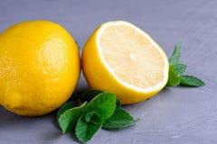 Лимон и мята Стоковое Фото