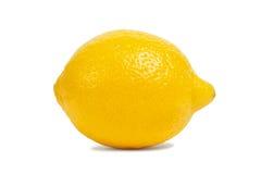 Лимон на белизне Стоковая Фотография