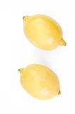 Лимон на белизне Стоковое Изображение