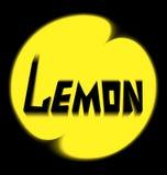 Лимон логотипа на черной предпосылке Стоковое Изображение RF