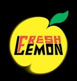 Лимон логотипа свежий с разрешением Стоковое Изображение RF