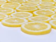 Лимон отрезает конец-вверх Стоковые Фото
