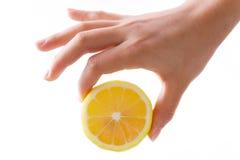 лимон руки Стоковая Фотография