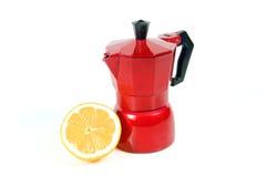 Лимон с кофеваркой Стоковые Изображения RF
