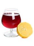 Лимон whit клубник стоковое фото