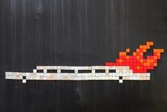 Лимузин на огне Стоковое Изображение RF