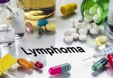 Лимфома, медицины как концепция обычной обработки стоковые фото