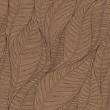 Линейная безшовная текстура на основании абстрактных листьев Стоковое Фото