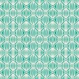 Линейная зеленая соплеменная безшовная картина Стоковые Изображения RF