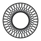 Линейная рамка границы, ретро винтажный элемент, круглая форма кольца иллюстрация штока
