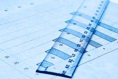 линейная шкала диаграммы колонки Стоковое Изображение RF