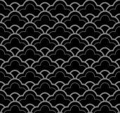 Линейная шкала кривой oriental античной безшовной предпосылки 467 винтажная иллюстрация вектора