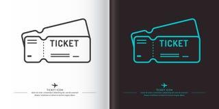 Линейное изображение билетов Стоковое Изображение RF