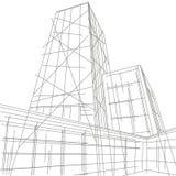 Линейный архитектурноакустический небоскреб иллюстрации Стоковые Изображения