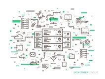 Линейный центр данных бесплатная иллюстрация