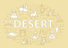 Линейный шаблон пустыни Стоковые Фотографии RF