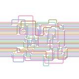 Линии абстрактная безшовная картина электрический провод Стоковые Изображения