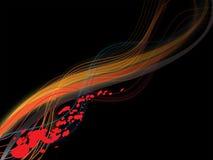 линии абстрактной предпосылки пламенистые Стоковое Фото