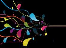 линии абстрактной предпосылки покрашенные Стоковое Изображение RF