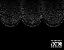 Линии абстрактной черточки предпосылки праздничной шуточной вертикальной белые на черной предпосылке вектор изображения иллюстрац Стоковое Изображение