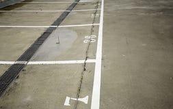 Линии автостоянки автомобиля Стоковое фото RF
