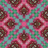 Линии безшовное patt розовых зеленых цветков естественные геометрические пересеченные Стоковое Изображение